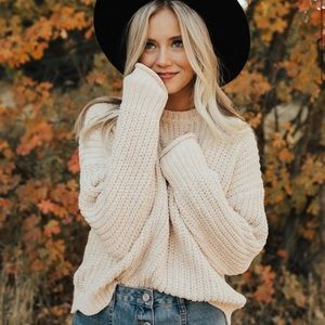 ROOLEE scalloped sweater